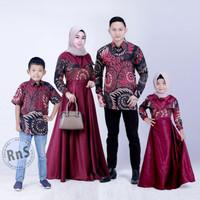 baju batik couple keluarga anak cewek cowok