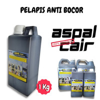 Cat Aspal Cair Guna kote Solusi Anti Rembes Lantai Atap Dak ( 1Kg )