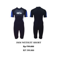 BAJU DIVING SNORKELING WETSUIT DRYSUIT Neoprene Shorty Wetsuit WS-B003