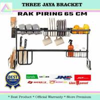 Rak Sendok Garpu Piring Mangkok Minimalis Size 65/85cm Stainless BLACK
