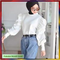 Blouse Kerja LIDYA Model Lengan Balon | Atasan Baju Kerja Wanita HITS