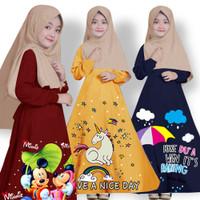 baju gamis anak perempuan muslim / cewek / kids / kaos anak termurah