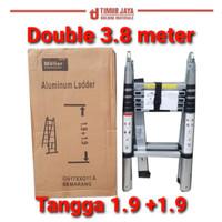 Tangga Double Teleskopik 1.9+1.9 = 3.8 MTelescopic MOLLAR skls denko