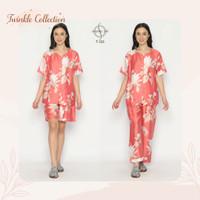 Baju Tidur Piyama Tanpa Kerah Organic Silk GREET T-103
