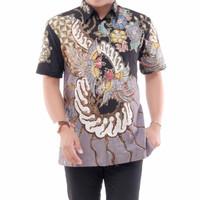 kemeja batik pria lengan pendek batik tulis berlapis furing AD914