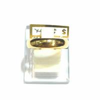 Cincin Polos Belah Setengah Rotan Emas Kuning 24K (93%)