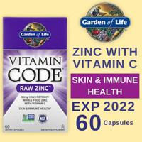 Garden of Life Vitamin Code Raw Zinc Vitamin C 60 Capsules Kapsul