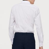Kemeja Kantor Formal White Basic Shirt Men