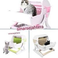 Toilet Kucing Semi Otomatis / Cat Litter Box Tray Semi Automatic -