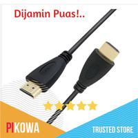 Kabel Laptop ke TV // HDMI ke HDMI 1.4 1080P 3D - Hitam, 1meter