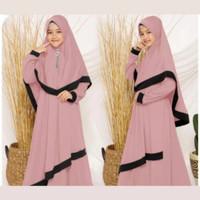 Gamis anak perempuan(free jilbab) usia tanggung baju muslim anak