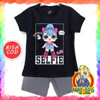 Setelan Baju Anak Perempuan Motif LOL Selfie 1-10 thn anak boss
