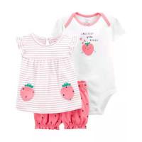 Setelan cewe baby / baju bayi perempuan import murah