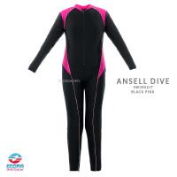 Baju Renang Wanita Cewek Perempuan Dewasa Panjang Diving Ansell Edora - M