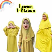 gamis anak baju muslim bayi usia 1 sampai 8 tahun - 1-2 tahun