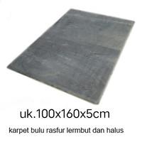 KARPET BULU RASPUR 160x100x5cm busa HDP termurah