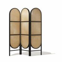 sketsel ruangan kayu jati kombinasi rotan terbaik , pembatas ruangan