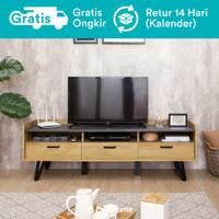 Dekoruma Andou Meja TV Minimalis Kayu dengan Laci | Rak TV