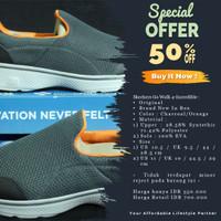 Original BNIB Skechers Go Walk 4-Incredible - Grey/Orange - Abu-abu, 9.5