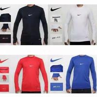 Baselayer Manset Lengan Panjang Thumbhole Baju Ketat Pria Nike Premium