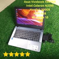 PROMO!! Laptop Bekas Asus X441N/X441NA Celeron N3350 Ram 4GB Mulus