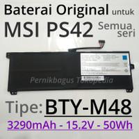 Baterai Original MSI PS42 8RA B 8RC 8M Laptop BTY-M48 Prestige Modern