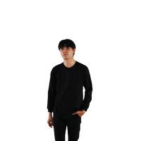 Kaos Polos Kaos Oblong TC 28 Hitam Tangan Panjang ( Merk : SIBISAN )