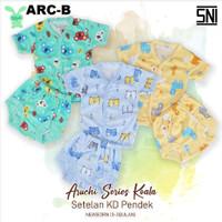 Aruchi Newborn Setelan Pendek Baju Bayi 0-3 bulan