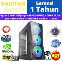 PC Rakitan Gaming RYZEN 5 3600 16GB 500GB NVME B450M