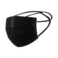 Masker Hijab 3 Ply Hitam Disposable Mask Black isi 50 Pcs