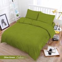 Full Set Bedcover + Sprei Vito Polos King 180 Warna Olive Green Hijau