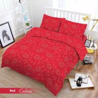 Full Set Bedcover + Sprei Vito 3D Polos Queen 160 Warna Red Merah