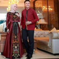 Baju pasangan lebaran/Couple muslimah/Cp modern/Kapel keluarga/family