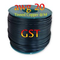Kabel AWG 20 awm hitam black tinned copper Serabut tinned copper awg20