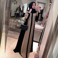Busana baju dress gamis syari Muslim Wanita Dewasa Terbaru D08