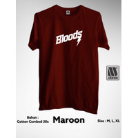 BLOODS LOGO - BAJU/KAOS/ATASAN/TSHIRT DISTRO - SABLON CUTTING MURAH
