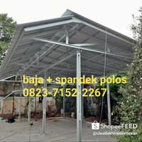 kanopi baja ringan murah atap spandek polos berkualitas