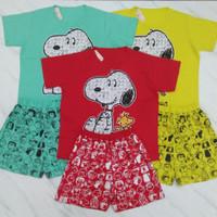Setelan Wanita Snoopy Oreenjy 100% Original