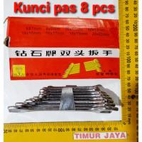 DIAMOND 8 PCS Kunci Pas Set 8 Pcs ( 6-22 ) mm - Open End Wrench
