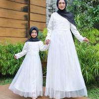 Baju Muslim Gamis Syari Couple Keluarga Ibu dan Anak Perempuan Murah