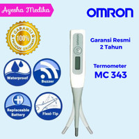 omron termometer digital mc 343f original fleksibel