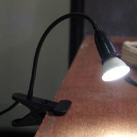 Lampu Set FOTOLICIOUS jepit meja belajar fitting e27 HITAM