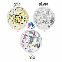 Balon Latex Transparant Isi Confetti / Balon Latex Bening Isi Confetti