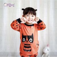 (isi 3 pcs) Kazel Piyama Baju Tidur Anak Perempuan 2-5 tahun