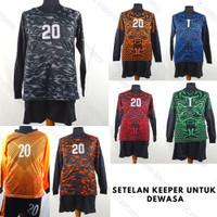Setelan Baju/Kaos Sepak Bola/Futsal Team/Tim Dewasa Goal Keeper/Kiper