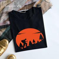 Kaos Outdoor Pria Baju Pendaki Gunung Lengan Pendek