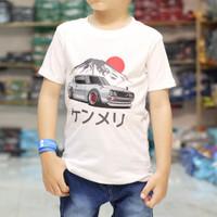 Baju Kaos Anak laki laki Karakter Motif MOBIL Jepang Gunung Keren