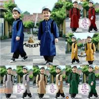 Stelan Koko Anak ARKEN Stelan Jubah anak Baju Koko Trendy Baju Lebaran