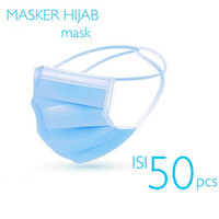 Masker Hijab 3 Ply isi 50 Pcs Disposable Mask