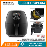 Mistral - Air Fryer 3.3 Liter 1300 Watt MAF09